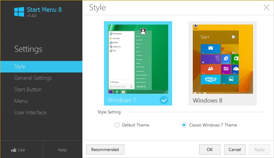 butonul de start in windows 8.1