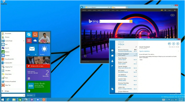 Butonul Start in Windows 8