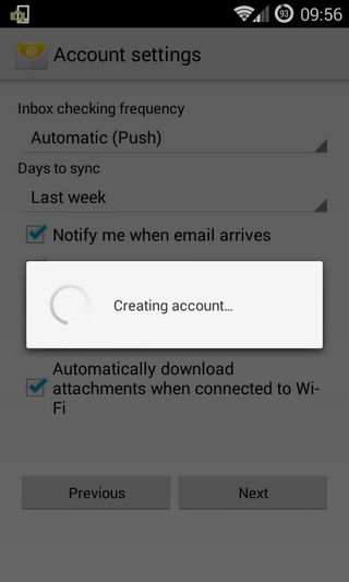 Configurare conturi Exchange- Active Sync pe Android