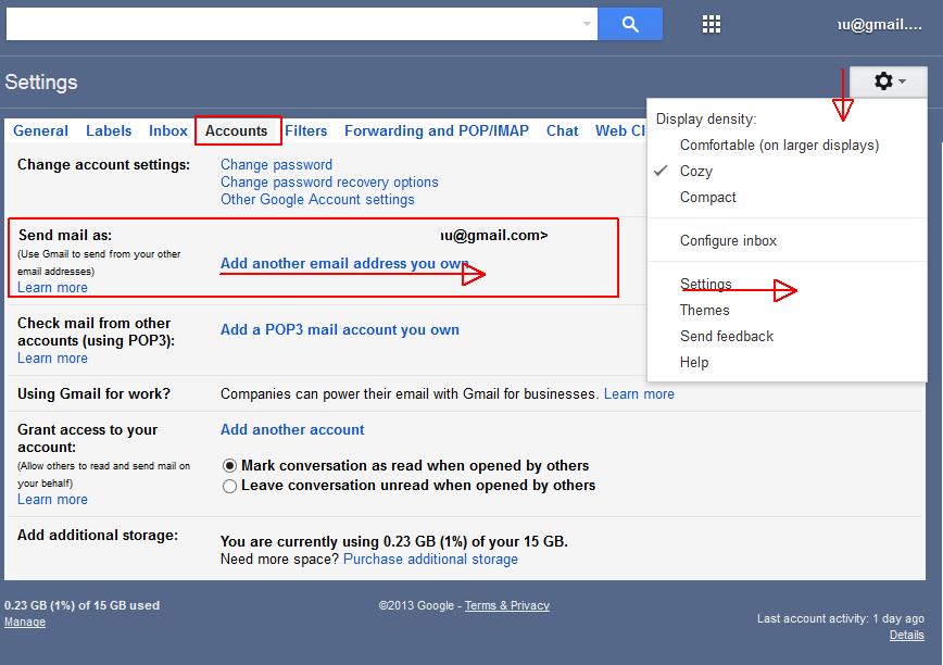 configurare gmail trimitere email folosind o alta adresa de email